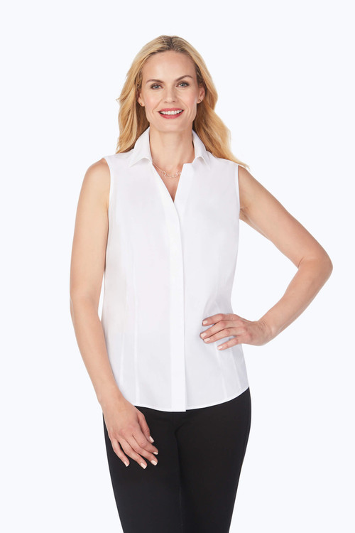 Taylor Essential Stretch Non-Iron Sleeveless Shirt