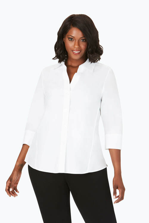 Paityn Plus Essential Pinpoint Non-Iron Shirt