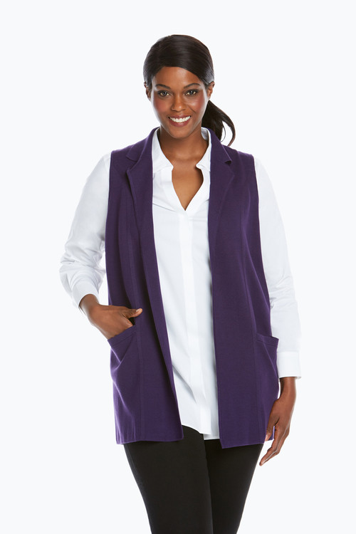 Jodi Plus Size Sleeveless Vest