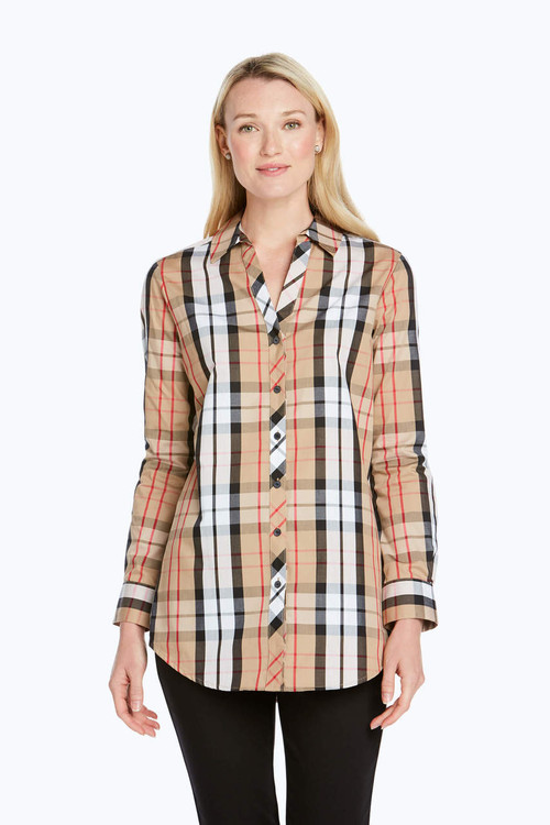 Faith Wrinkle-Free Anderson Tartan Tunic