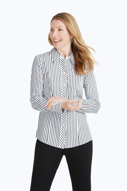 Sadie Petite Stretch Non-Iron Stripe Shirt