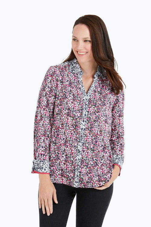 Mary Petite Wrinkle-Free Garden Party Shirt