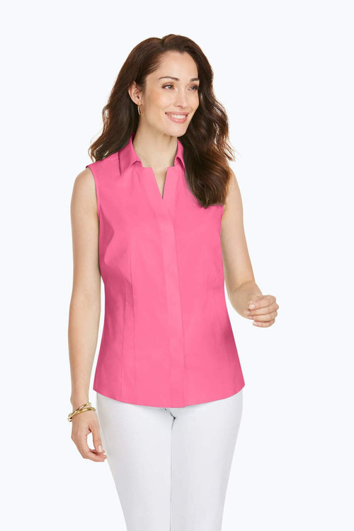 Taylor Stretch Non-Iron Sleeveless Shirt In Spring Colors