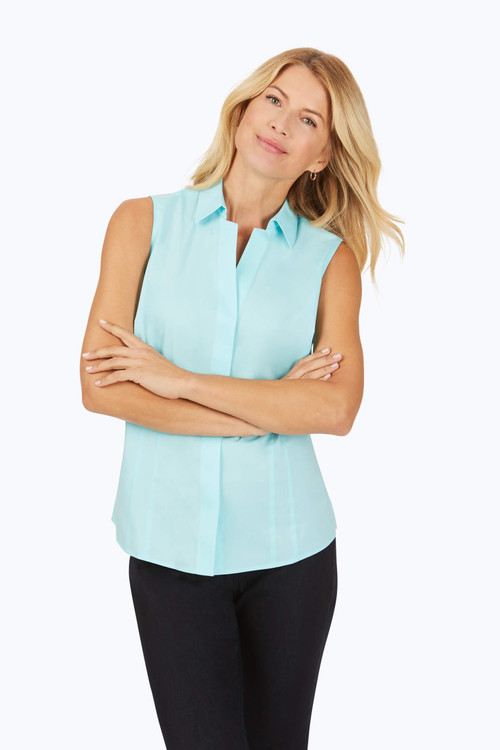 Taylor Stretch Non-Iron Sleeveless Shirt