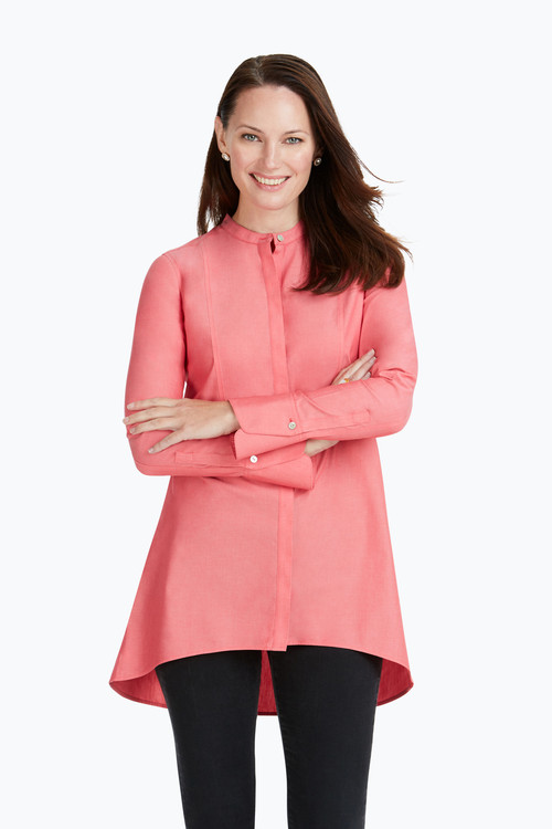 Exclusive Cally Non-Iron Pinpoint Tunic On Sale