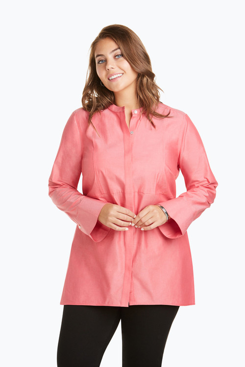 Exclusive Cally Plus Non-Iron Pinpoint Tunic On Sale
