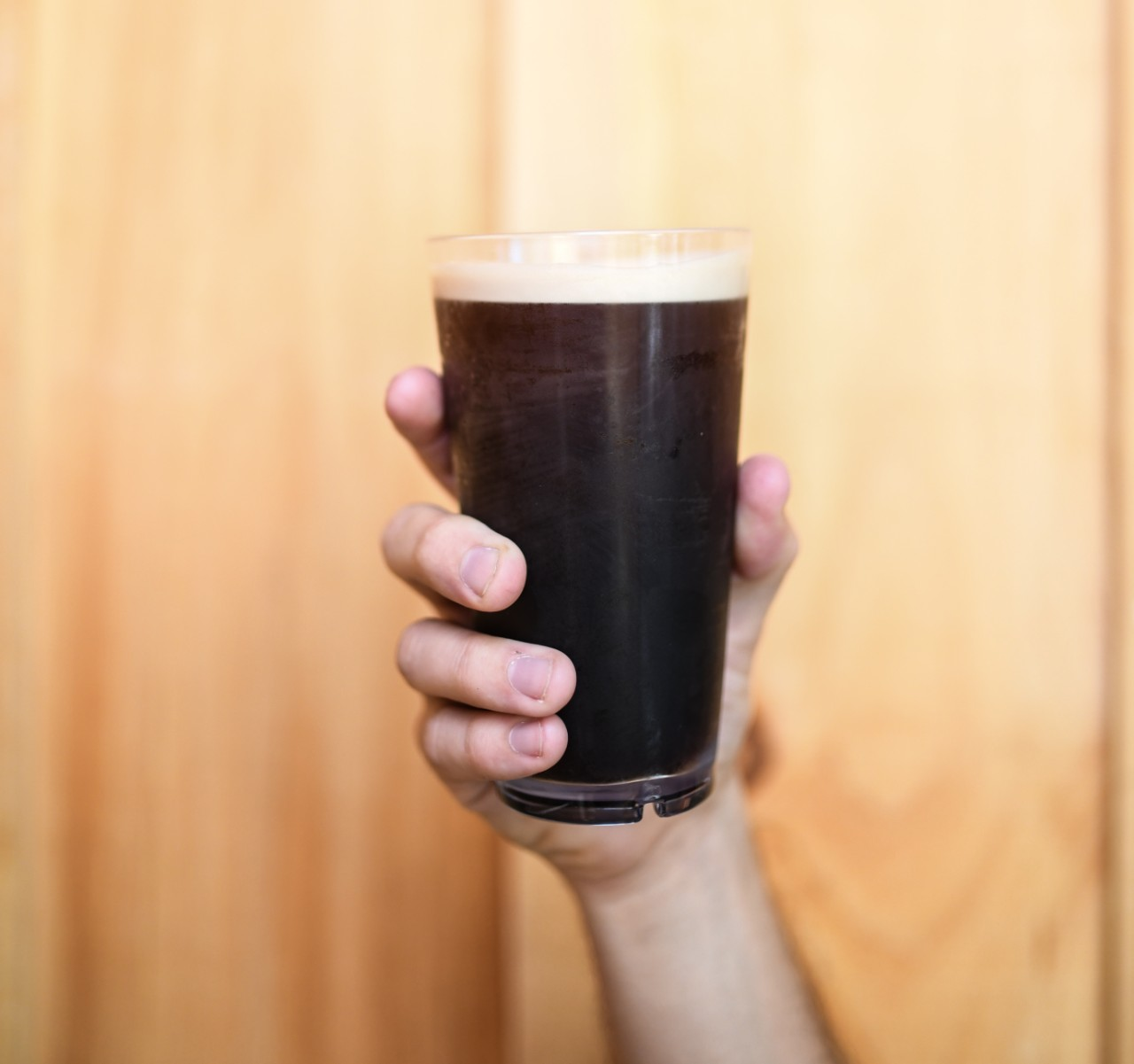 glass of nitro cold brew coffee
