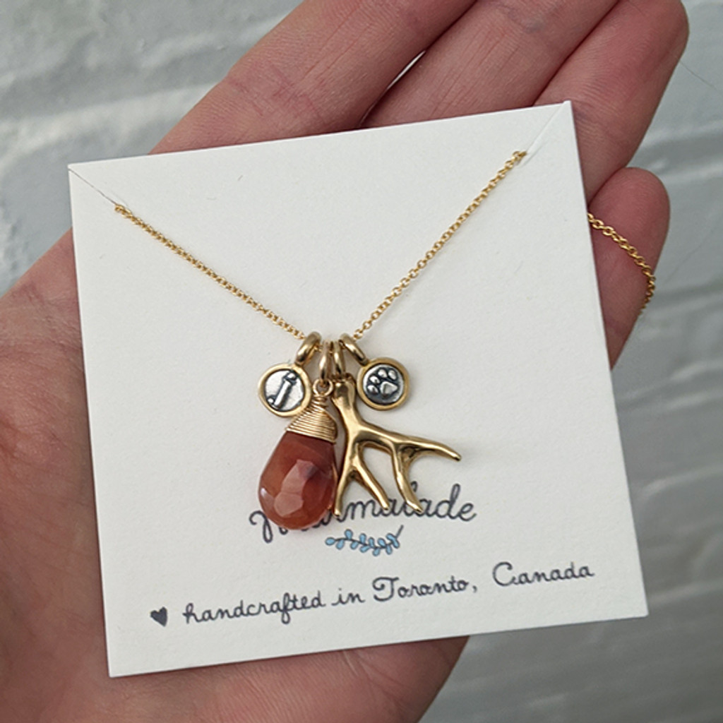 Teeny Silver and Bronze Letter Charm