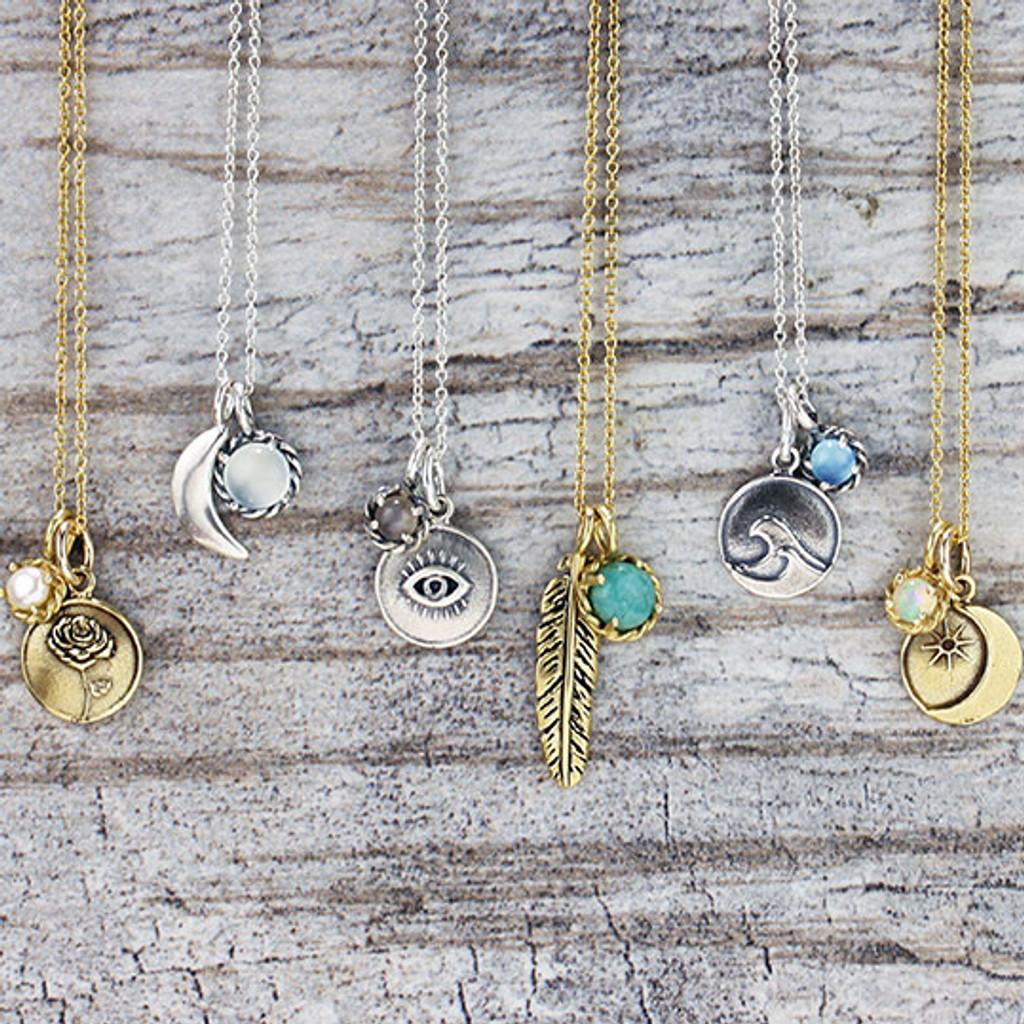 Evil Eye Gemstone Necklace