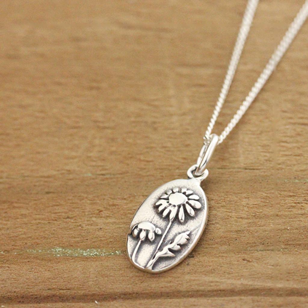 Silver Daisy Necklace