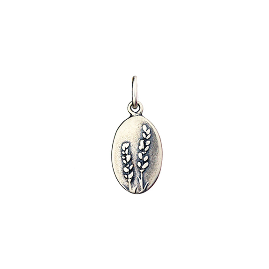 Lavender oval charm