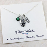 Bear Charm Gemstone Necklace