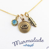 Evil Eye Gemstone Necklace