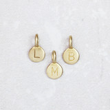 Teeny Bronze Letter Pendants