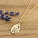 Bronze Lavender Necklace
