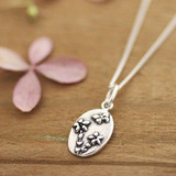 Silver Forget-Me-Not Necklace