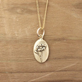 Bronze Poppy Necklace