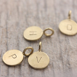 Tiny Bronze Letter Pendants