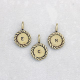 Bronze Twist Letter Pendants