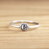 Stacking Letter Ring
