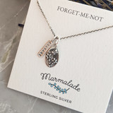 Forget-Me-Not oval charm