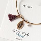 Lavender oval charm