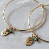 Rose oval charm