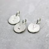 Tiny Silver Letter Pendants