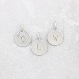 Tiny Silver Letter Pendants