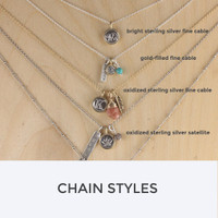 Tiny Silver and Bronze Symbol Charm