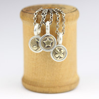 Teeny Silver and Bronze Symbol Charm