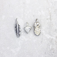 Sculpted Silver Charm