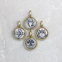 Tiny Silver and Bronze Zodiac Charm