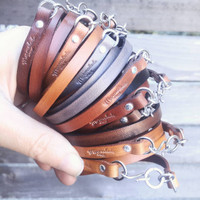 Chocolate Leather Wrap - Build Your Own