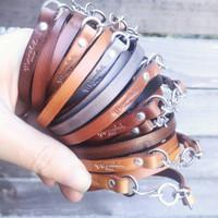 Camel Leather Wrap Bracelet