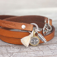 Camel Leather Wrap - Build Your Own