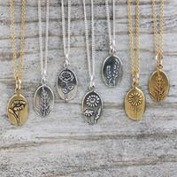 Botanical Ovals - Silver