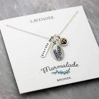 Lavender Charm Necklace