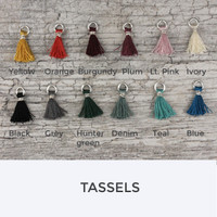 Moon and Stars Tassel Necklace