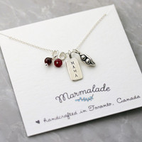 Mama and her Two Peas Necklace