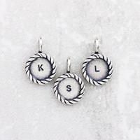 Silver Twist Letter Pendants