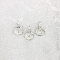 Teeny Silver Letter Pendants