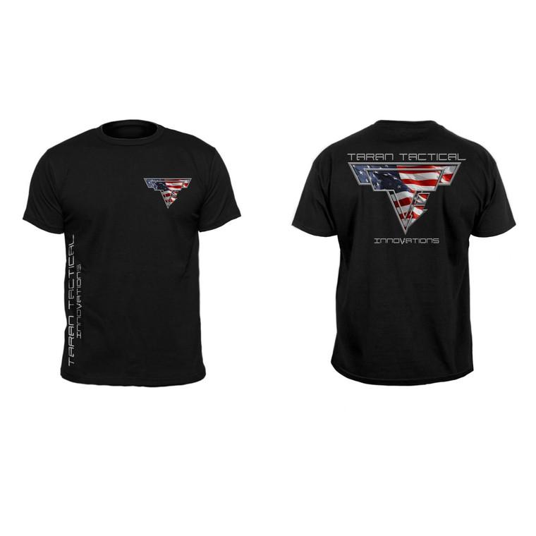 Taran Tactical Innovations T-Shirts American Flag Logo