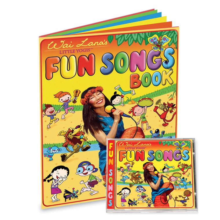 Wai Lana's Little Yogis™ Fun Songs CD & Lyrics Book