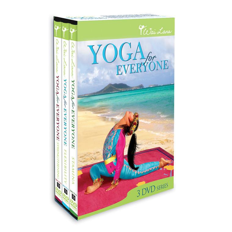 """DVDs de """"Yoga para Todos"""", en Paquete Triple,"""