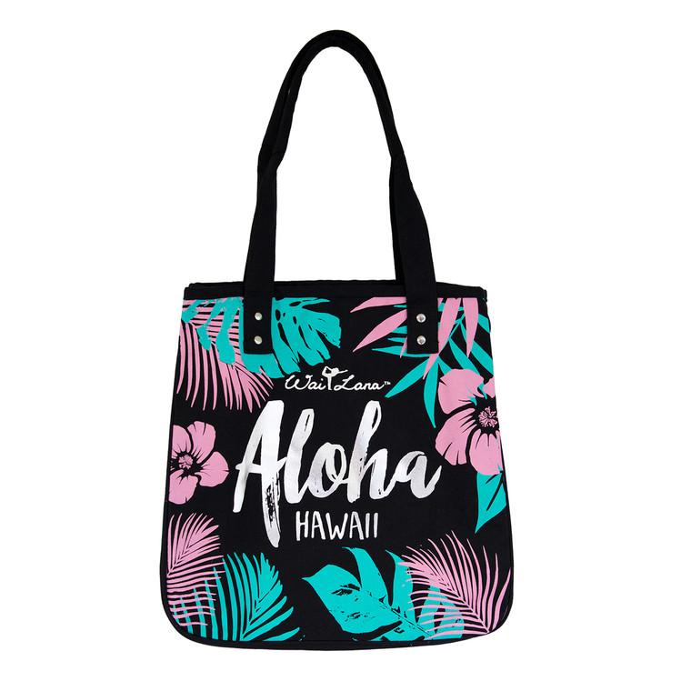 Stylish 100% Organic Cotton Tropical Aloha Bag