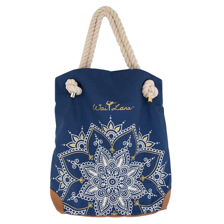 Stylish 100% Organic Cotton Blue Mandala Bag