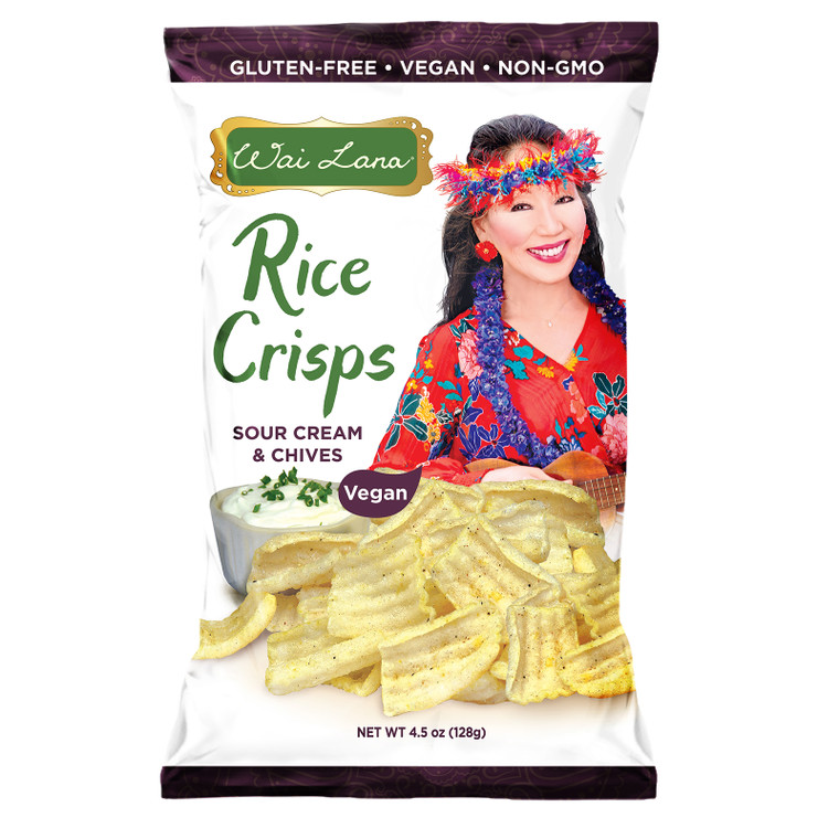 Rice Crisps : Sour Cream & Chives - 12 pack (Vegan) (4.5oz)