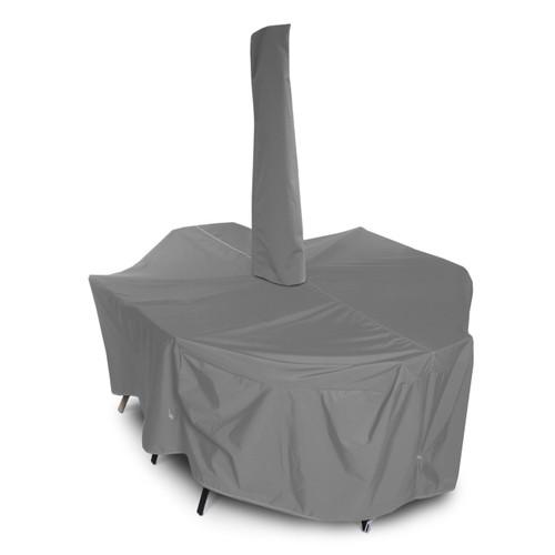 Outdoor Oval/Rectangular Dining Set Cover w/Umbrella Hole
