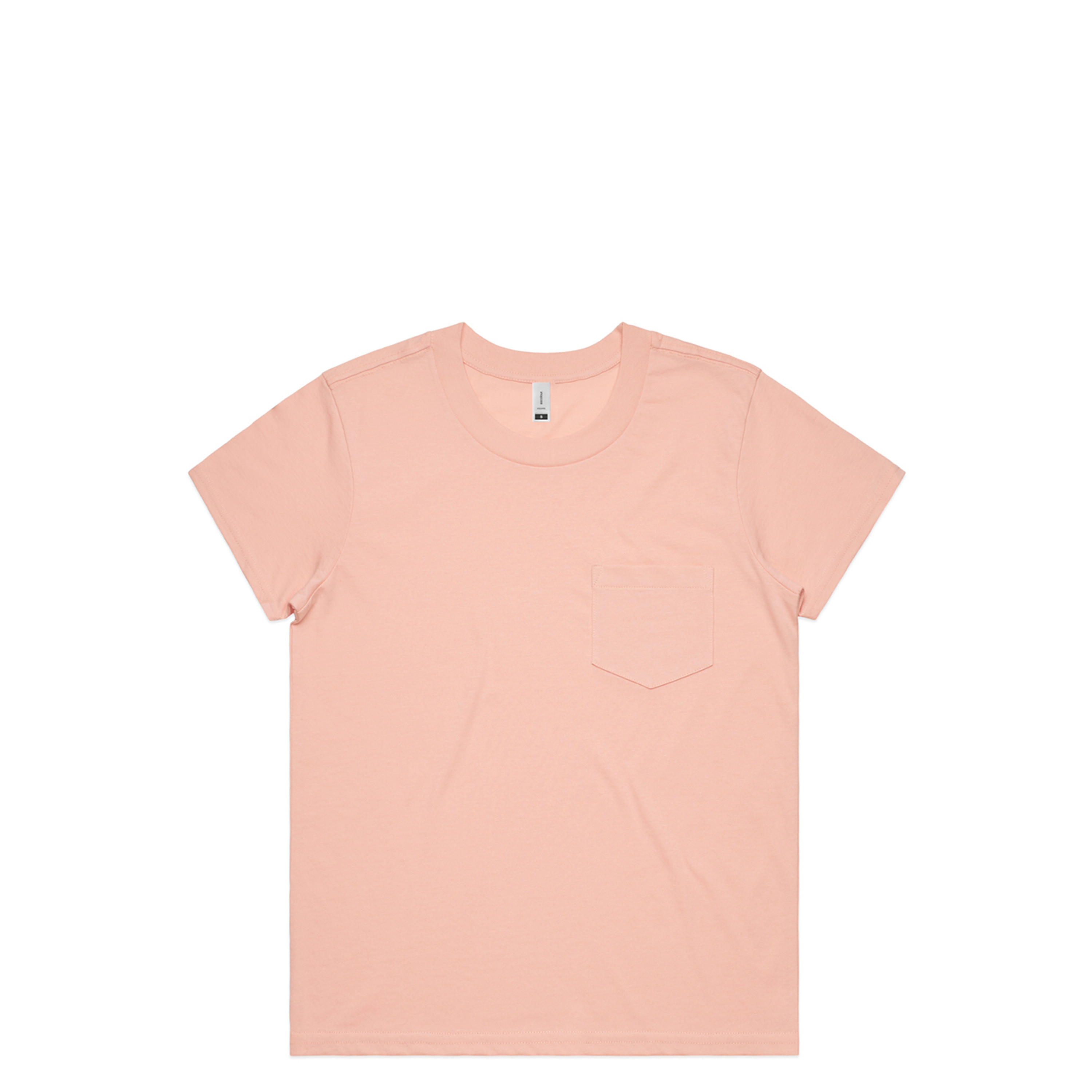 Wo's Square Pocket Tee - 4046